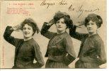 Bergeret - Militaire : N° 1 Les Zouav... Ettes - Dos Simple, Postée En 1903 - Bergeret