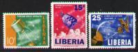 Space -espace- Libéria 393-395** - MNH - Liberia