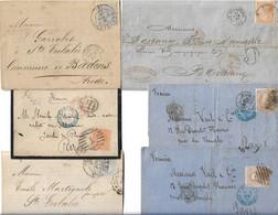 Lot De 6 Lettres D'Espagne Pour La France Entre 1867 Et 1881 Toutes Scannées - Briefe U. Dokumente