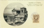 REPUBBLICA  Di  S. MARINO -- La Plebale E La Chiesa Di S. Pietro Addossata Ad Una Pendula  Rupe - Saint-Marin