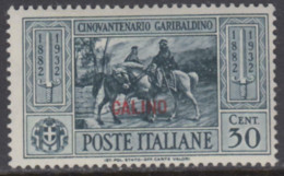 EGEO - CALIMNO - GARIBALDI N. 20 - Cv 60 Euro - GOMMA INTEGRA - MNH** - LUXUS POSTFRISCH - Egeo (Calino)