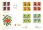 Switzerland, Pro Juventute1975,Flowers- In 4-er Blocks, Special Edition,numbered FDC,nr1335.,aufl. 2000 - Lettres & Documents