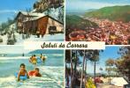 Saluti Da CARRARA - Viste Diverse / Carte Multivues (camping Avec Une Cox. Et Une Aronde) - Circulée En 1963 - Massa