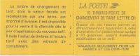 YVERT ET TELLIER - N° 2713 - TYPE MARIANNE DE BRIAT-lettre D - ROUGE - Non Dentelé Adhésif - Usage Courant