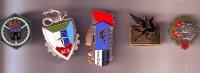 3 Insignes Unités Armée De Terre 2 Insignes Unités Opérations Extérieures - Armée De Terre