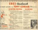 Pub. Reclame EBES Knalweek - Tony Corsari - Bouwdewijnpark St Michiels Brugge 1964 - Publicités