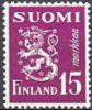 Finland 1949 15mk Violet Leeuwentype M/30 PF-MNH-NEUF - Neufs