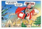 Illstrateur BERNARD VEYRI    Pour Le 25é Salon Carte Postale De Draguignan Caricature Moreau P - Veyri, Bernard
