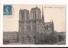 CP, 75, Paris, Eglise Notre Dame, 1921, Voyagée - Notre Dame De Paris