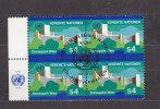 NATIONS  UNIES  VIENNE BLOC DE 4  1979/80   N°  4  OBLITERE    CATALOGUE YVERT - Centre International De Vienne