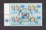 NATIONS  UNIES  VIENNE  BLOC DE 4    1979/80   N°  5  OBLITERE     CATALOGUE YVERT - Centre International De Vienne