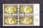 NATIONS  UNIES  VIENNE BLOC DE 4  1980   N° 10   OBLITERE       CATALOGUE    YVERT&TELLIER - Centre International De Vienne