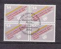 NATIONS  UNIES  VIENNE BLOC DE 4  1981   N° 16    OBLITERE    CATALOGUE YVERT - Centre International De Vienne