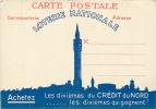 Loterie Nationale : Les Dixièmes Du CREDIT DU NORD. Tampon 29 Avril 1940. 2 Scans. - Advertising