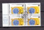 NATIONS  UNIES  VIENNE BLOC DE 4  1981     N° 21   OBLITERE       CATALOGUE YVERT - Centre International De Vienne
