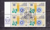 NATIONS  UNIES  VIENNE BLOC DE 4  1981     N° 22   OBLITERE       CATALOGUE YVERT - Centre International De Vienne