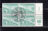 NATIONS  UNIES  VIENNE BLOC DE 4  1983     N° 32   OBLITERE       CATALOGUE YVERT - Centre International De Vienne