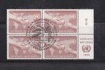 NATIONS  UNIES  VIENNE BLOC DE 4  1983     N° 33   OBLITERE       CATALOGUE YVERT - Centre International De Vienne