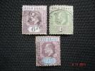 Gold Coast 1902 K.Edward VII   3 Values  SG41, 43, 44  Used - Gold Coast (...-1957)