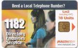 Malta - Malte - 1182 Directory Enquiries Services - Malta