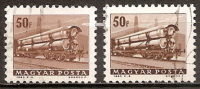 """Hongrie 192- Série """" Transport, Communications Et Tourisme : Wagon Pétrolier ( 2 Nuances De Coloration ) - Variedades Y Curiosidades"""