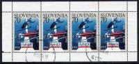 SLOVENIA 1994 Ski Jump Championships  Postally Used Sheetlet.  Michel 78 Kb I - Slovenia