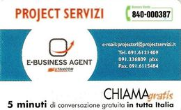 *CHIAMAGRATIS - N.136 - PROJECT SERVIZI* - Scheda NUOVA (MINT) (DT) - Unclassified