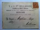 CUNEO--SAVIGLIANO--CARTOL INA  PUBBLICITARIA--V. E G. F.LLI BELLARDONE--FONDITORI IN GHISA E BRONZO--V 13-12-1881 - Artisanat