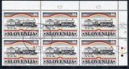 SLOVENIA 1997 Ljubljana-Trieste Railway Block  Of 6 Postally Used.  Michel 188 - Slovenia