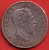 5 Lire ( Lires)   ARGENT   Victor Emmanuel II      1871 - 1861-1946 : Royaume