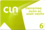 Azerbaijan 6 Manat CIN KART Prepaid Phonecard Used But Like New - Azerbaïjan