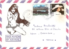 Océanie - Polynésie Française - Tahiti - Papeete, Par Avion, Pin Up Tahitienne, Lettre Avec Correspondance - Tahiti