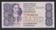 SUDAFRICA - BANCONOTA DA 5 RAND SERIE BI IO - CIRCOLATA - IN BUONE CONDIZIONI. - Sudafrica