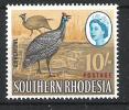Southern Rhodesia 1964 10s 'extra Feather' Flaw MNH CV £30 - Zuid-Rhodesië (...-1964)