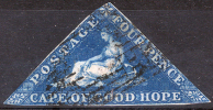 CAPE OF GOOD HOPE 1853 Wmk Anchor - Mi.2 Iwa (Yv.2, Sc.2b) Good Cond - Sud Africa (...-1961)