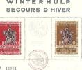 SECOURS D´HIVER - WINTERHULP BRUSSEL - Oblitération Spéciale Au Premier Jour De L´émission 1943 - FDC