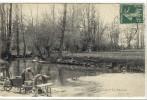 Carte Postale Ancienne Meursanges - La Bouzaise - Métiers, Laveuses, Lavandières - Frankreich