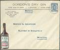 Belgique 50 Cent. Lion Obl. Sc OSTENDE S/L. Illustrée (GORDON'S DRY GIN + Bouteille/ Bottle HEERING CHERRY BRANDY) The D - Vins & Alcools