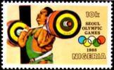 NIGERIA 1988 - OLYMPIC GAMES SEOUL 1988 - WEIGHTLIFTING - MINT - Pesistica