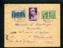 =*= Mazelin 680x2+760+793 Période émission Sur Lettre Rec. Provisoire Au Tarif Aniche>>>Thivencelles 26 1 1948 =*= - France