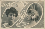 Jolie Carte Fantaisie Portrait Femme LEKA Et MARIETTE SULLY - Women