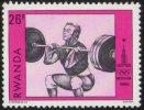 RWANDA 1980 - OLYMPIC GAMES MOSCOW 1980 - WEIGHTLIFTING - MINT - Pesistica
