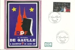 """CDG 28 """" Premier Jour D´Emission Timbre Charles De Gaulle """" Le 8/11/1980"""
