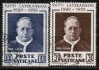 VATICAN   Scott #  254-5  VF USED - Vatican
