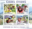 GUINEA BISSAU 2011 - Cadel Evans, Tour De France. Official Issue - Beroemde Personen