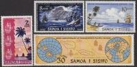 Samoa 1972 Anniversary Of Sighting Of Samoa By Roggeveen 2 MNH 2 MLH - Samoa