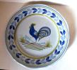 Quimper - Assiette Coq Bleu- Rooster Plate Blue  - Haan  Bord - Hahn Teller (SSE322) - Quimper/Henriot (FRA)