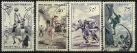 """FR YT 1072 à 1075 """" Série Sportive 1956 """" Oblitéré - Usati"""