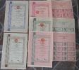 5 Pcs Share Bond Bank Negara Indonesia '62 Deco W/ Revenue - Shareholdings