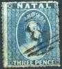 NATAL 1861 Unwmk Rough Perf. - Yv.9 (Mi.9C. Sc.12) Used - Natal (1857-1909)